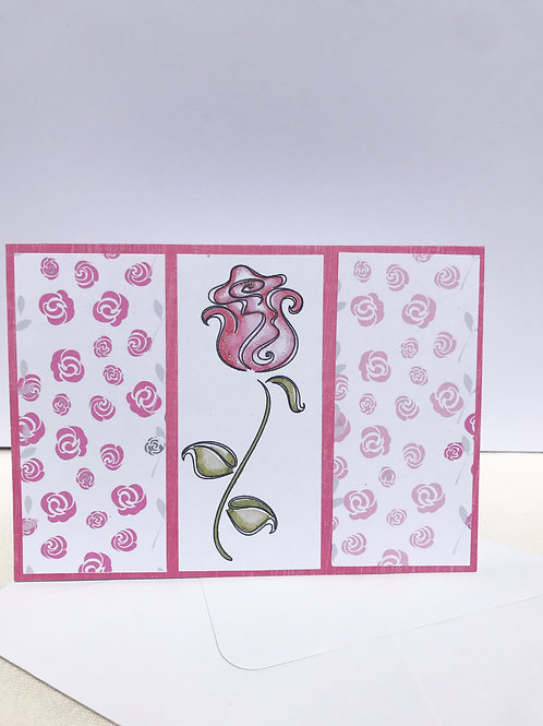 Single Rose Card