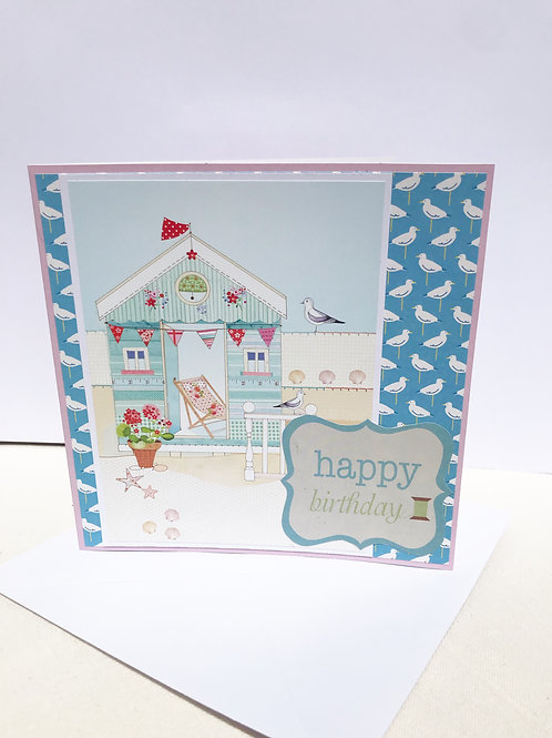 Pretty Seaside Birthday Card