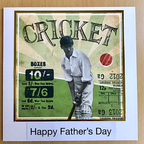 Cricket Father's Day Card