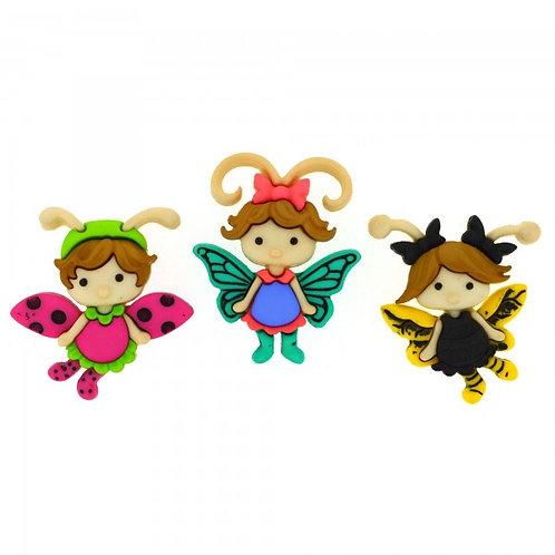 Flutterbugs - Cute fairy buttons