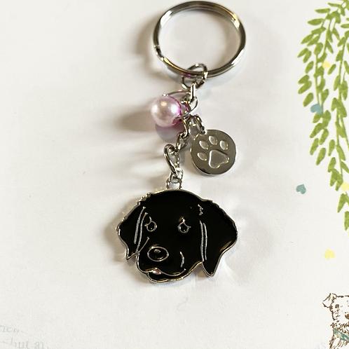 Black Dog Keyring