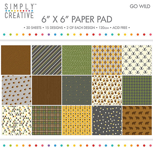 Simply Creative - Go Wild 6x6 Paper Pad