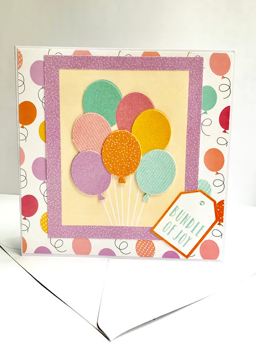 Bundle of Joy Balloons Card