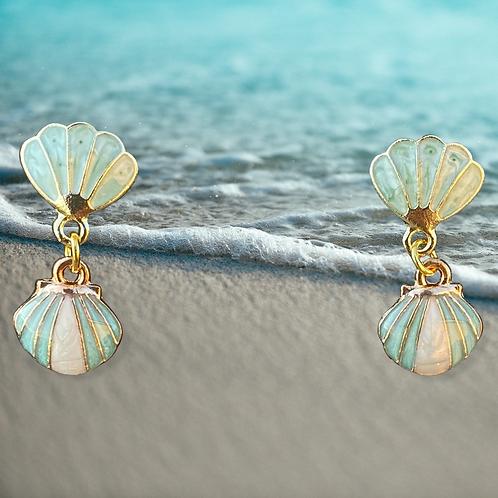 Shimmer Shell Earrings