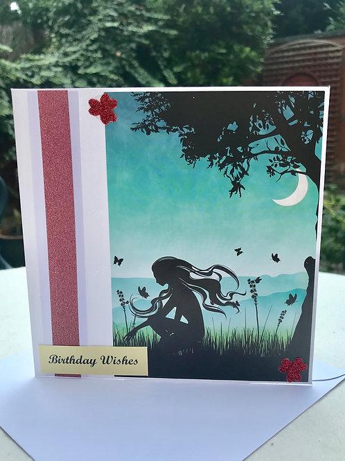 Twilight Fairy Birthday Card
