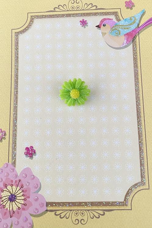Green Dainty Daisy - Pin Badge