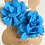 Thumbnail: Blue Frill Flower Hair Clips
