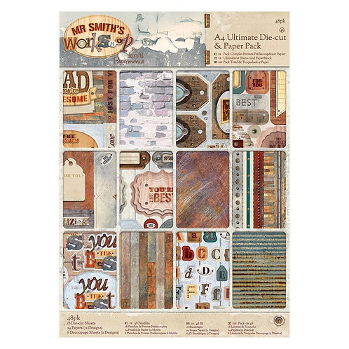 A4 Die-cut & Paper Pack - Mr Smith's Workshop