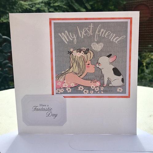 Best Friend French Bulldog Birthday Card