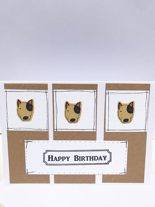 Bull Terrier - Birthday Card