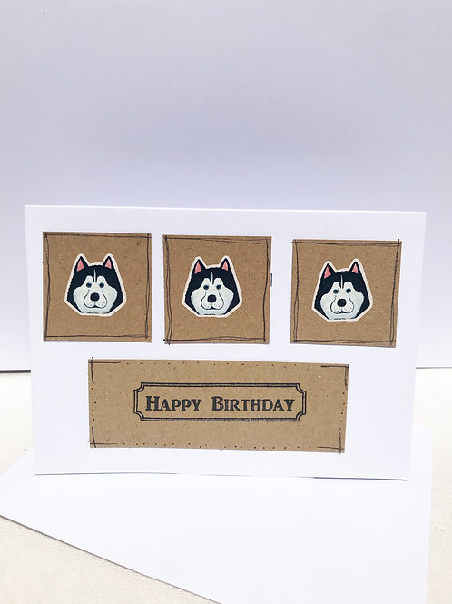 Husky - Birthday Card
