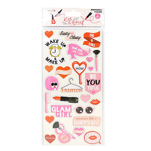 Dovecraft Kiss & Makeup Dimensional Stickers