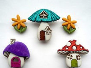 Dress It Up buttons - Shroom With A View