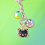 Thumbnail: Black Cat Charms Keyring Bag charm