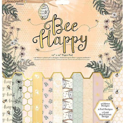 Dovecraft Bee Happy 12 x 12 Paper Pad