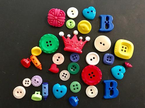 Assortment of Novelty Buttons