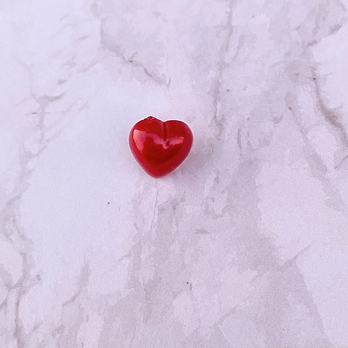 Small Heart Pin Badge - Red