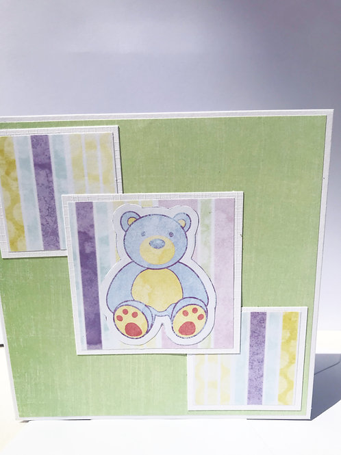 Blue Bear - Child's Card