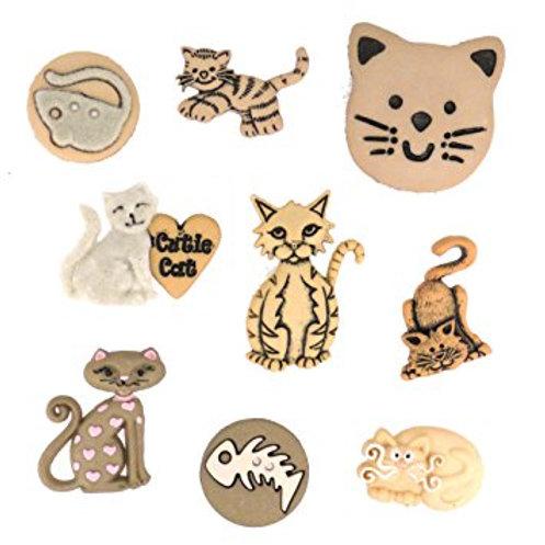 Dress It Up buttons - Feline Fancy