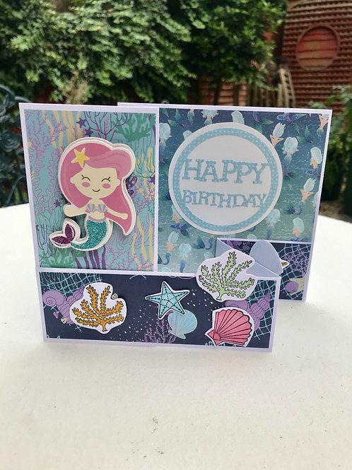 Deep Blue Sea - Mermaid Card