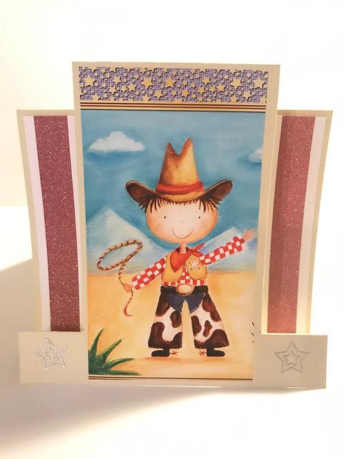 Cowboy Lasso Card