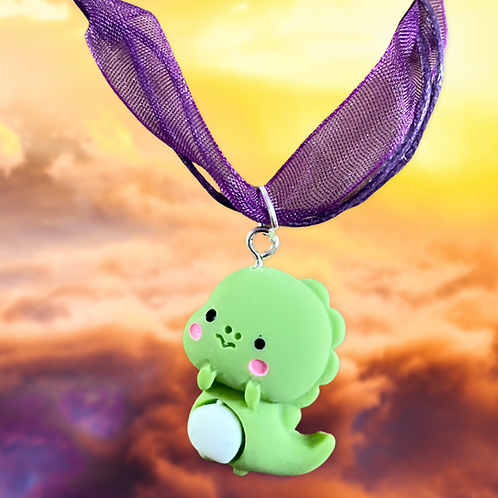 Baby Green Dragon Necklace
