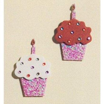 Purple Cupcake Embellishments
