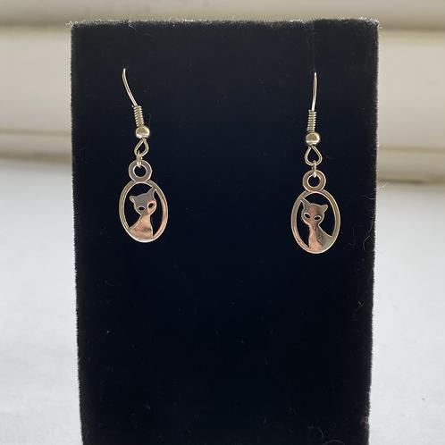 Cat Portrait Earrings