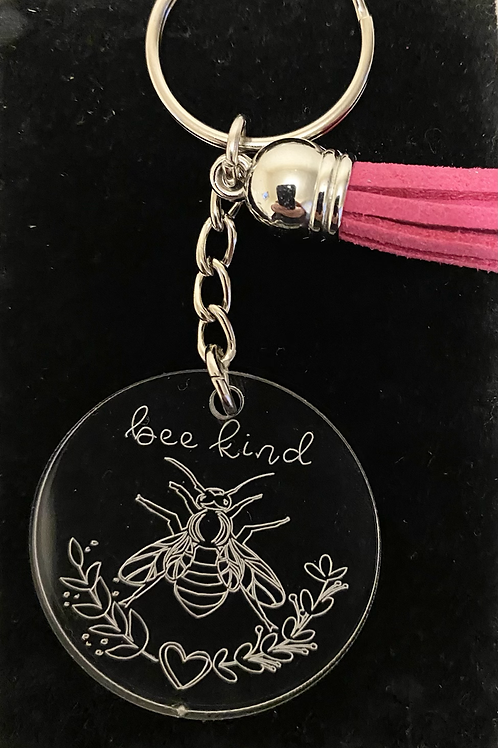 Bee Kind - Engraved Acrylic Keyring