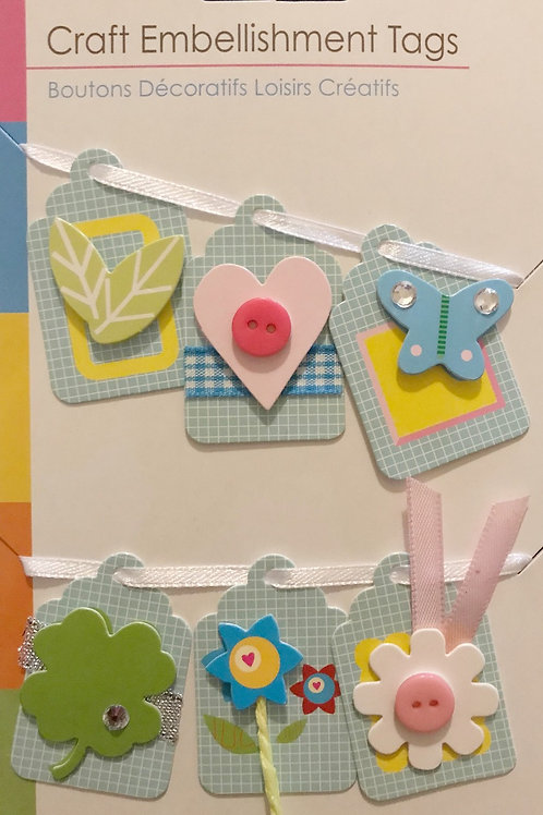 Blue Fun Craft Tags