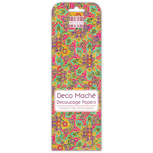 First Edition Deco Mache - Paisley Flower