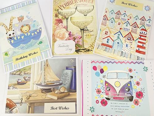Handmade Cards Multipack (5 cards) - Birthday Value Range (No. 1)