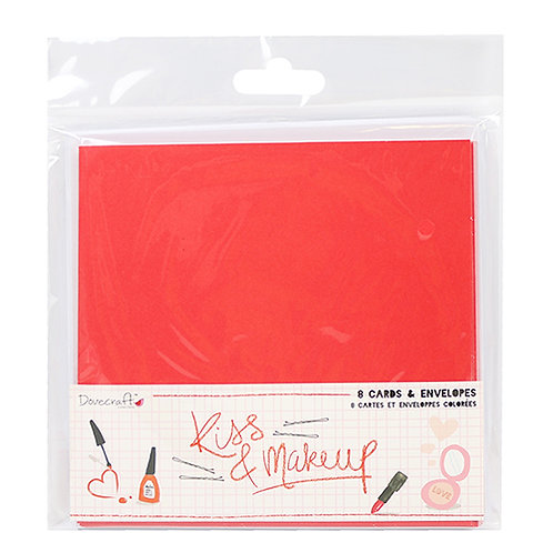 Dovecraft Kiss & Makeup Cards & Envelopes