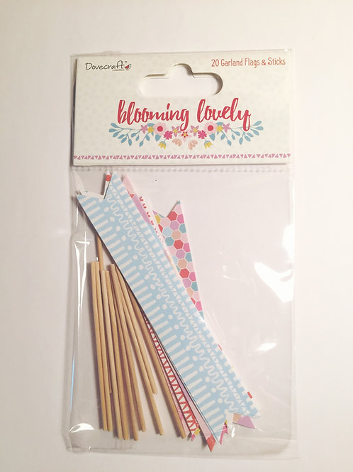 Dovecraft Blooming Lovely Garland Flags