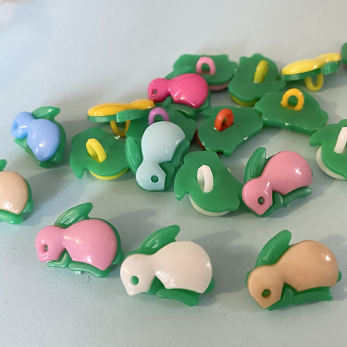 Colourful Bunny Buttons