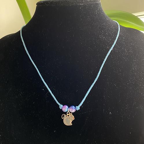 Grey Squirrel Necklace