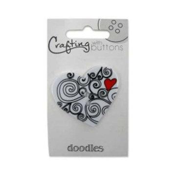 Heart doodle Button
