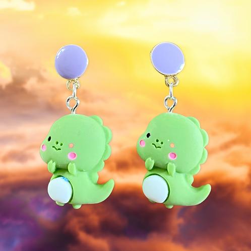 Baby Green Dragon Earrings