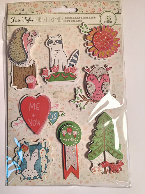 Grace Taylor Forest Friends Embellishments
