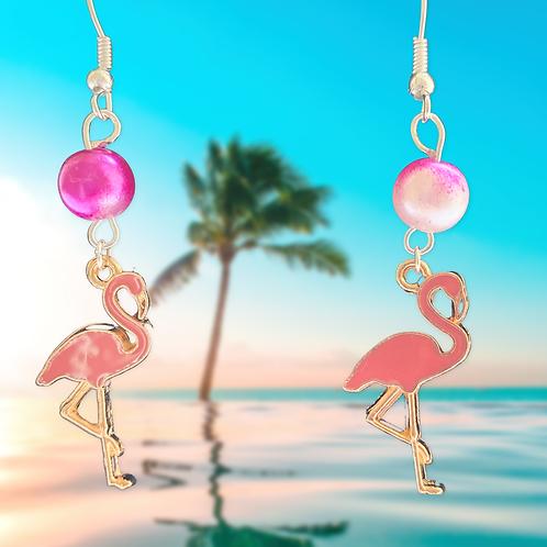 Fancy Flamingo Earrings
