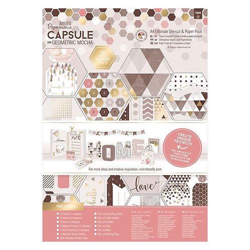 A4 Ultimate Die-cut & Paper Pack and -  Mocha