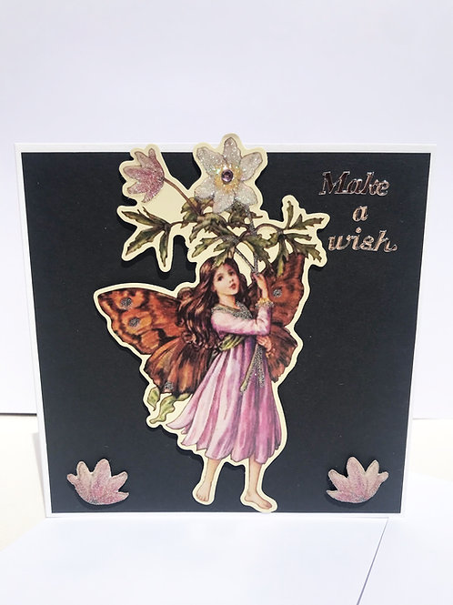 Dark Fairy Make A Wish Card