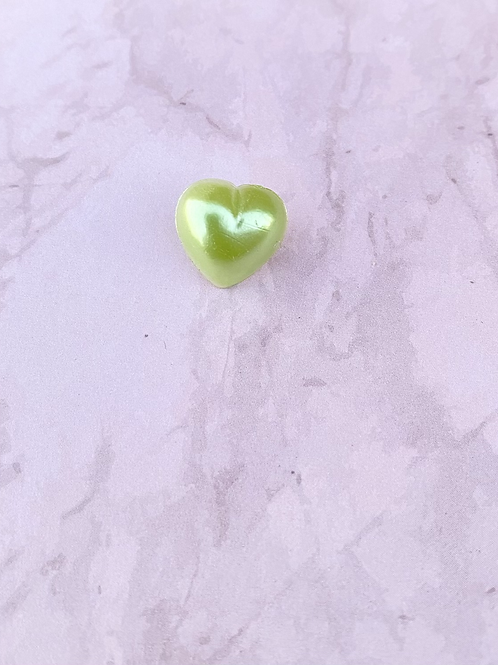 Small Heart Pin Badge - Green