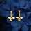 Thumbnail: Bee Dangle Stud Earrings