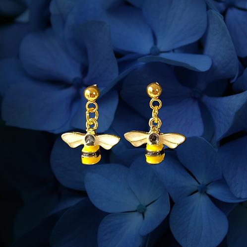 Bee Dangle Stud Earrings