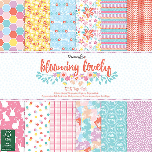 Dovecraft Blooming Lovely 12 x 12 paper pad