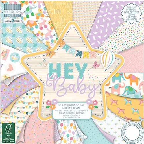 First Edition Hey baby 12 x 12 Paper Pad