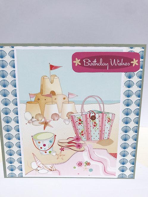 Sandcastles Birthday Card