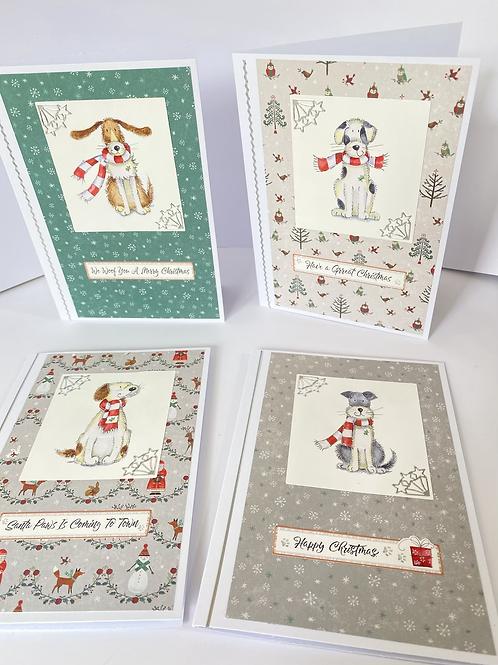 Christmas Woofs - Christmas Cards (4 pk)