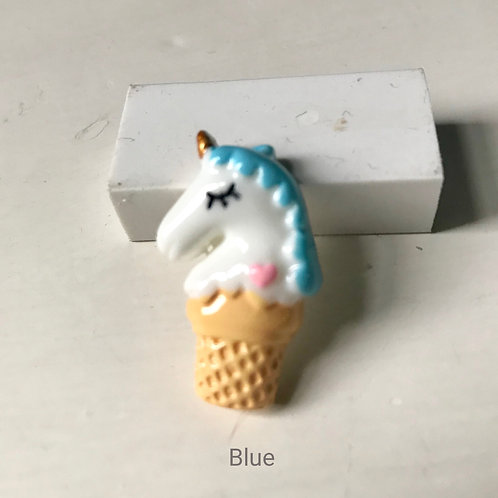 Unicorn Ice Cream Cone Pin Badge